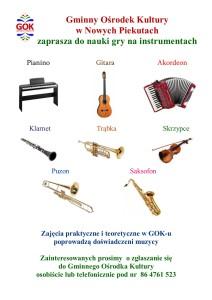 plakat nauka gry na instrumentach