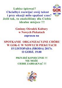 spotkanie organizacyjne chór
